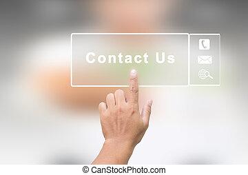 concepto, nosotros, contacto