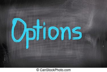 concepto, opciones