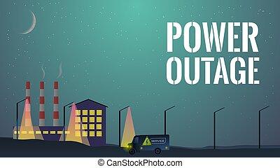 concepto, outage, electricity., potencia, no