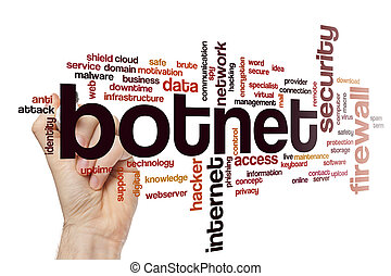 concepto, palabra, botnet, nube