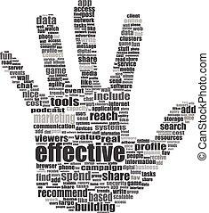 concepto, palabra, como, medios,  -, etiqueta,  social, nube