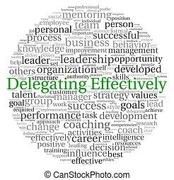 concepto, palabra, efectivamente, etiqueta, delegar, nube