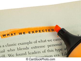 concepto, palabra, expectativa