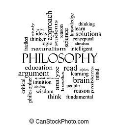 concepto, palabra, filosofía, negro, nube blanca