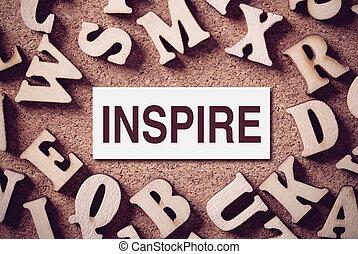 concepto, palabra, inspirar
