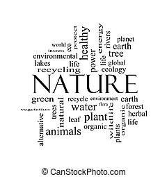 concepto, palabra, naturaleza, negro, nube blanca
