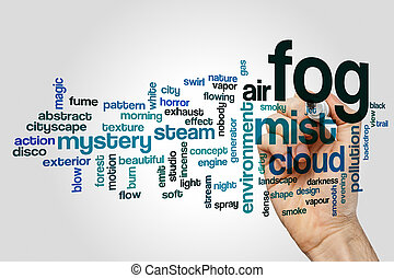 concepto, palabra, niebla, nube