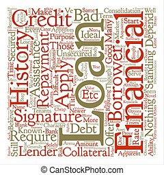 concepto, palabra, nombre, texto, cheque, blanco, plano de fondo, firma, préstamos, su, nube