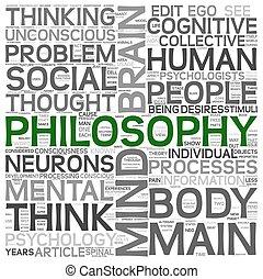 concepto, palabra, nube, filosofía, etiqueta