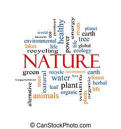 concepto, palabra, nube, naturaleza