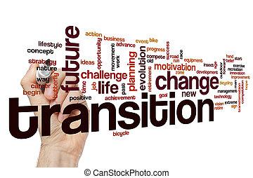 concepto, palabra, nube, transición