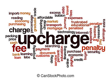 concepto, palabra, nube, upcharge