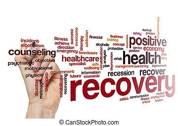 concepto, palabra, recuperación, nube