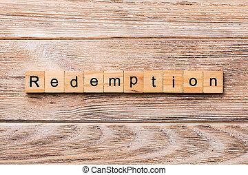 concepto, palabra, rescate, de madera, texto, escrito, madera, block., tabla, desing, su