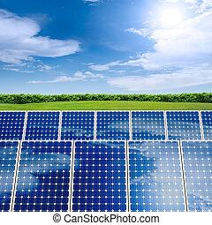 concepto, panel solar