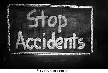 concepto, parada, accidentes