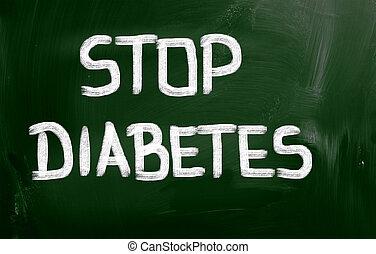 concepto, parada,  diabetes