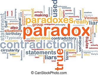 concepto, paradoja, contradicción, plano de fondo