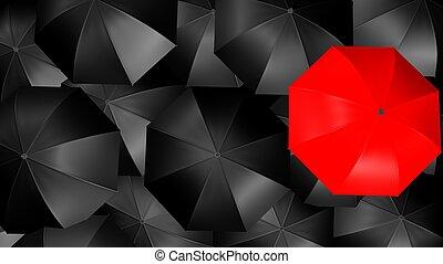 concepto, paraguas
