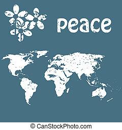 concepto, paz, tarjeta