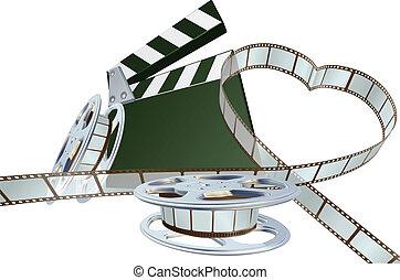 concepto, película, amante