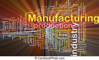 concepto, plano de fondo, fabricación