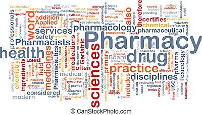 concepto, plano de fondo, farmacia