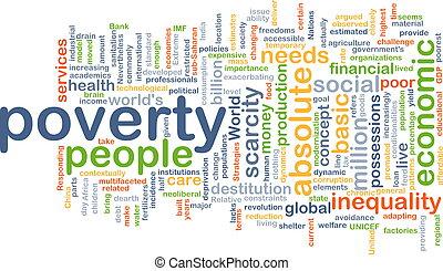 concepto, pobreza, plano de fondo