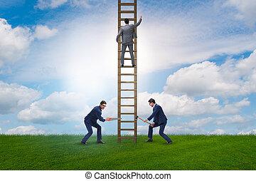 concepto, poco ético, competición, empresa / negocio,...