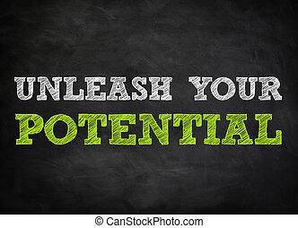 concepto, -, potencial, pizarra, desatraillar, su