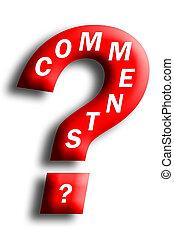concepto, pregunta, comments, incrustados, marca