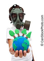concepto, Preservar,  -,  vital, bosques, ecología