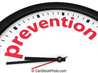 concepto, prevención, tiempo