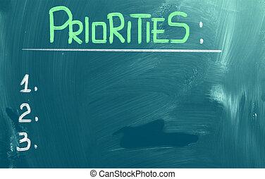 concepto, priorities
