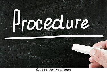 concepto, procedimiento