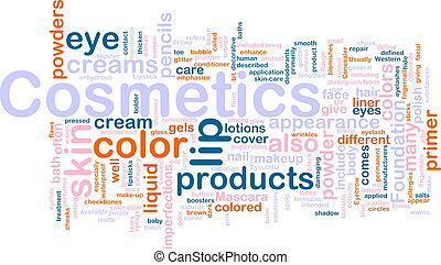 concepto, productos, cosméticos, plano de fondo