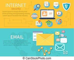 concepto, protección, internet