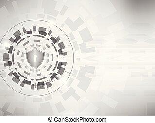 concepto, protector, cyber, fondo., digital, seguridad, :