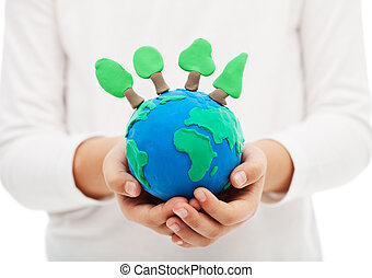 concepto, Proteger, ecología, bosques