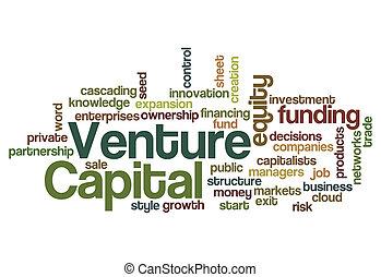 concepto, provisión de recursos financieros, empresa, plano de fondo, capital, inversionista