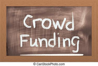 concepto, provisión de recursos financieros, multitud