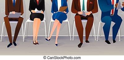 concepto, recruitment., trabajo, humano, entrevista, ...