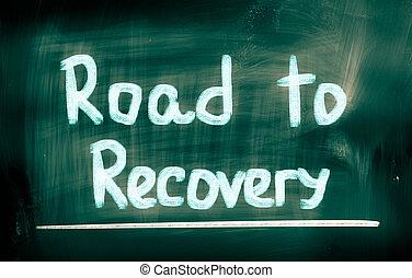 concepto, recuperación, camino