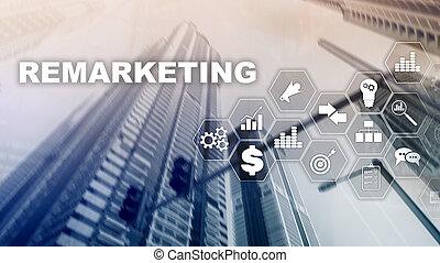 concepto, red financiera, empresa / negocio, technology.,...