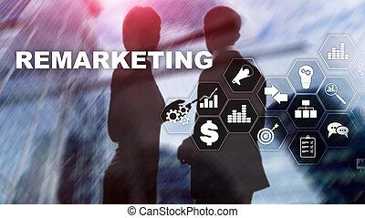 concepto, red, remarketing, empresa / negocio, concept.,...