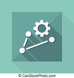 concepto, red, trabajando, icono