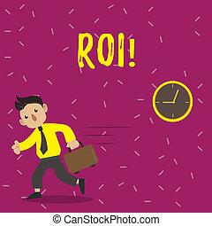 concepto, regreso, empresa / negocio, ganancia, texto, roi., significado, efficiency., medida, escritura, evaluación, perforanalysisce