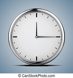 concepto, reloj,  3D