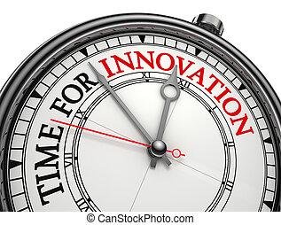 concepto, reloj, innovación, tiempo