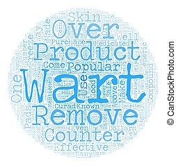 concepto, removedores, texto, encima, mostrador, 1, wordcloud, plano de fondo, popular, verruga